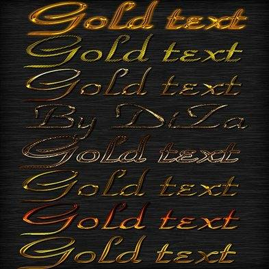 Golden text photoshop styles