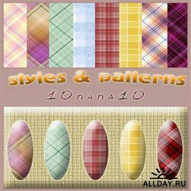 Free set of pattern 135 and 100 styles for photoshop - Cells, rhombuses