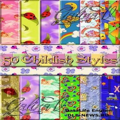 Free 50 Childish Styles Photoshop