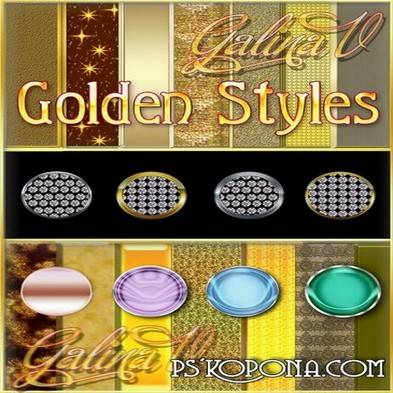 Free 191 Golden Styles for Photoshop