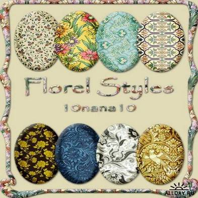 Styles for photoshop - floral ornaments