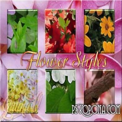 Free Flower Styles for Photoshop