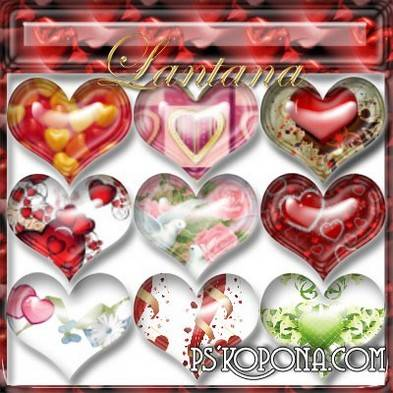 Styles for photoshop - Valentine's Day