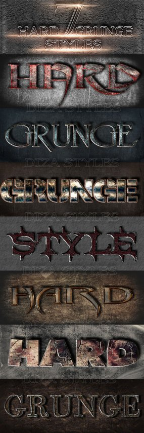 Hard grunge Photoshop styles