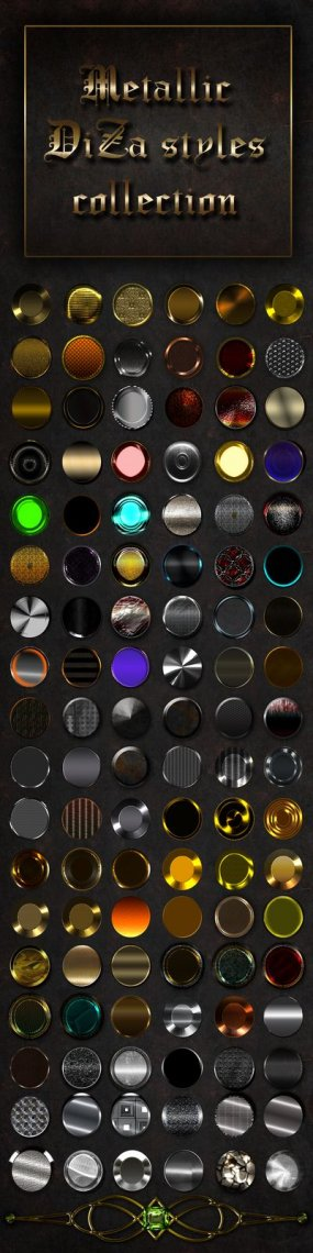 Collection Metallic Photoshop styles