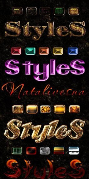 Free Bright Mix gold photoshop styles - Free download