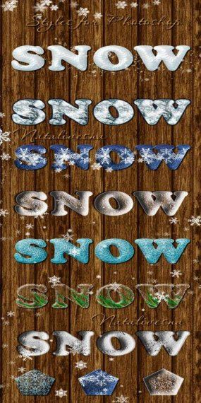 Free Snow Winter Photoshop Styles for Design - Free download