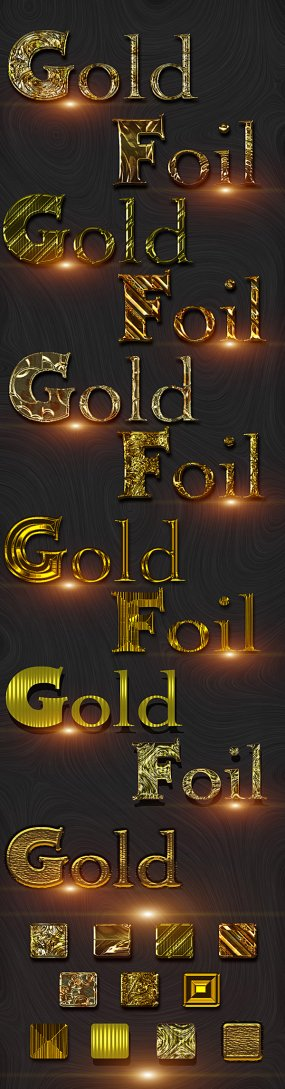 Free Golden Foil photoshop styles
