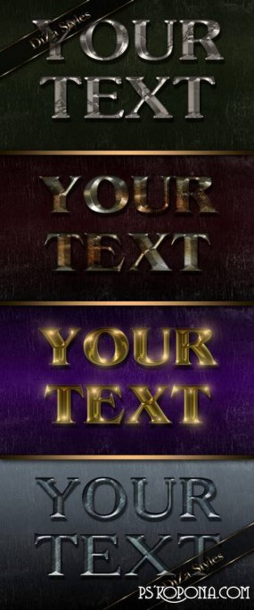 Metal luster text effect Photoshop style