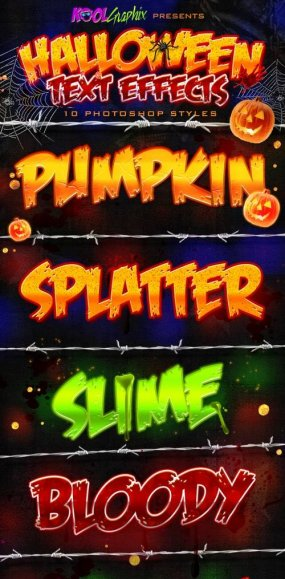 Halloween Text Effects - Photoshop Styles