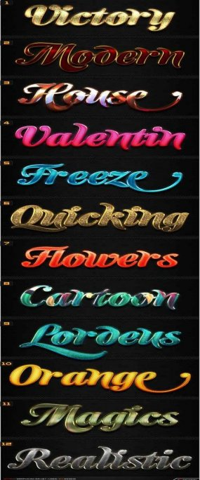 12 New Awesome Text Effect Photoshop Styles