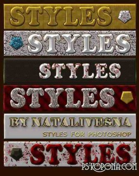 Styles for Photoshop - White - gold style