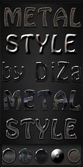 Metal Photoshop styles by DiZa - 10