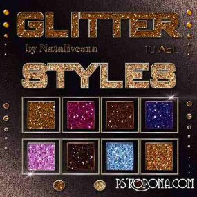 Styles for Photoshop - Brilliant glitter