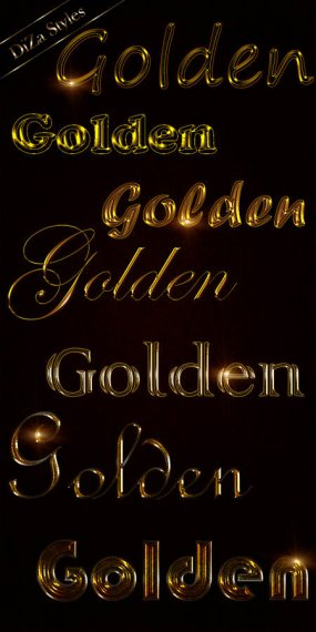 Styles for Photoshop Noble gold