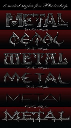 6 Metal Photoshop Styles for PS