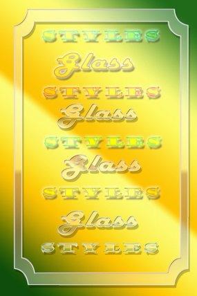 Free Glass Photoshop styles