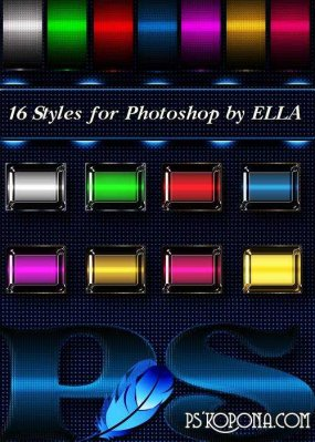 16 variety Styles for Adobe Photoshop by ELLA